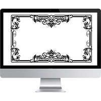 Отрисовка орнамента для печати на зеркале шкафа-купе