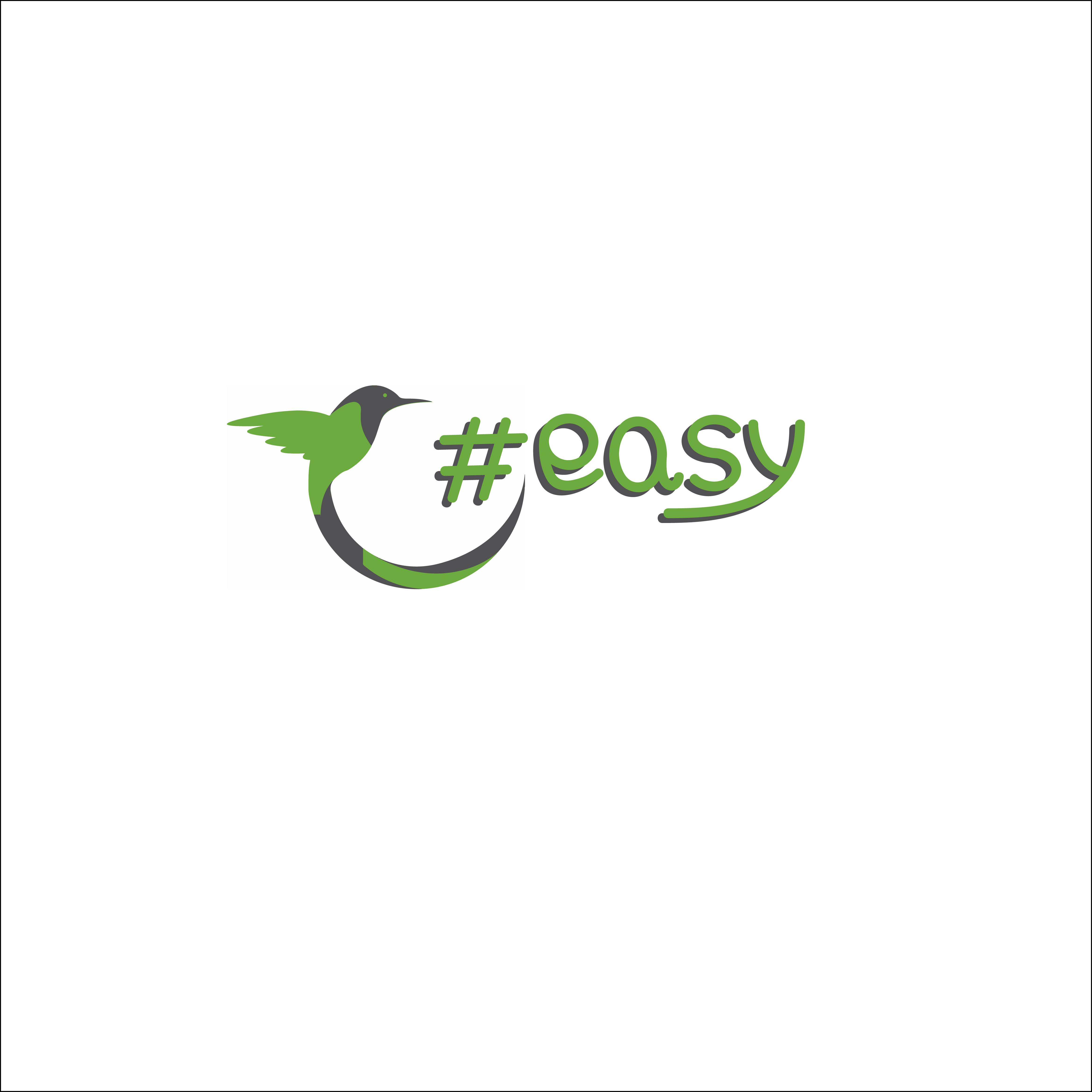 Разработка логотипа в виде хэштега #easy с зеленой колибри  фото f_5015d4ea4cf7ce2a.jpg