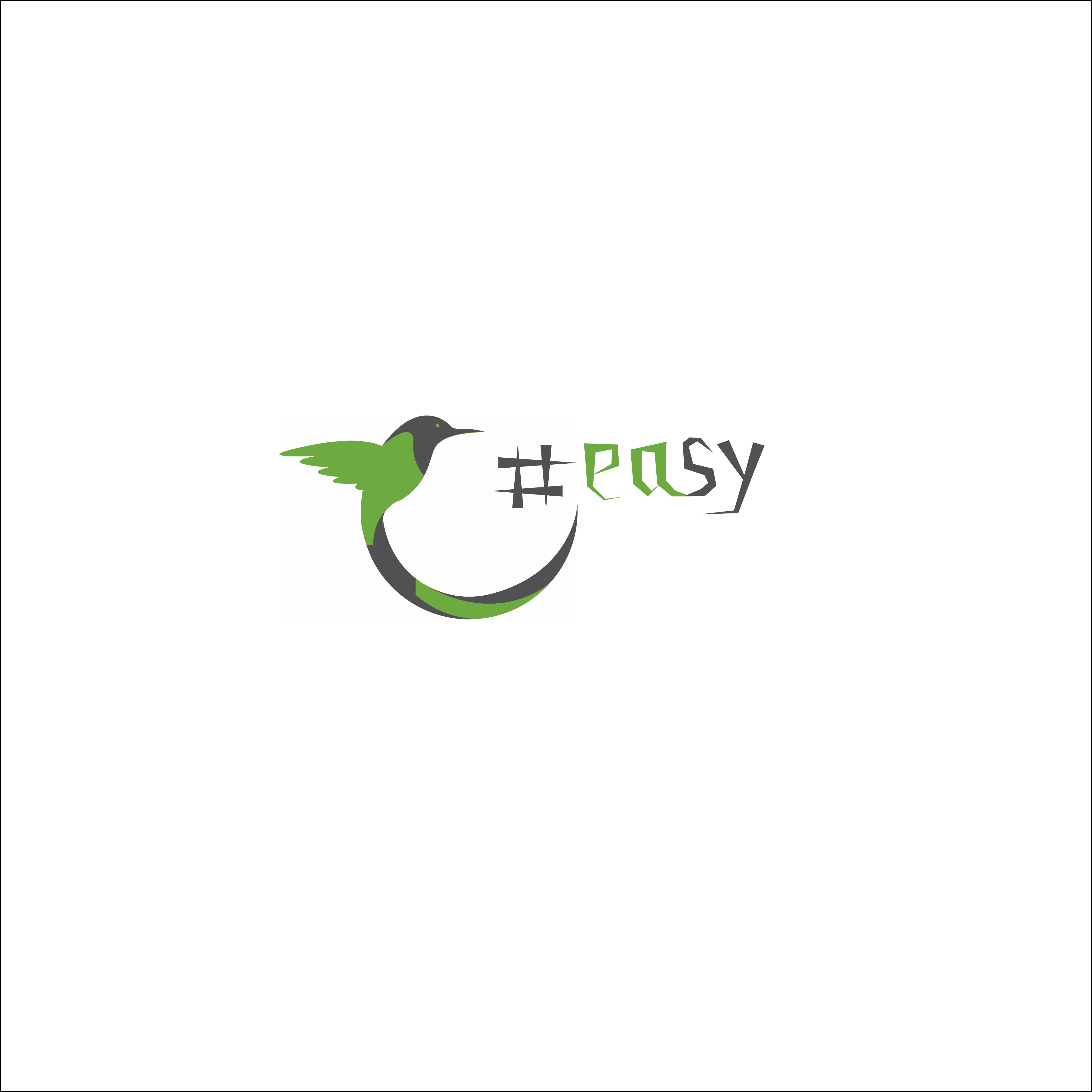 Разработка логотипа в виде хэштега #easy с зеленой колибри  фото f_6185d4ea4d218adc.jpg