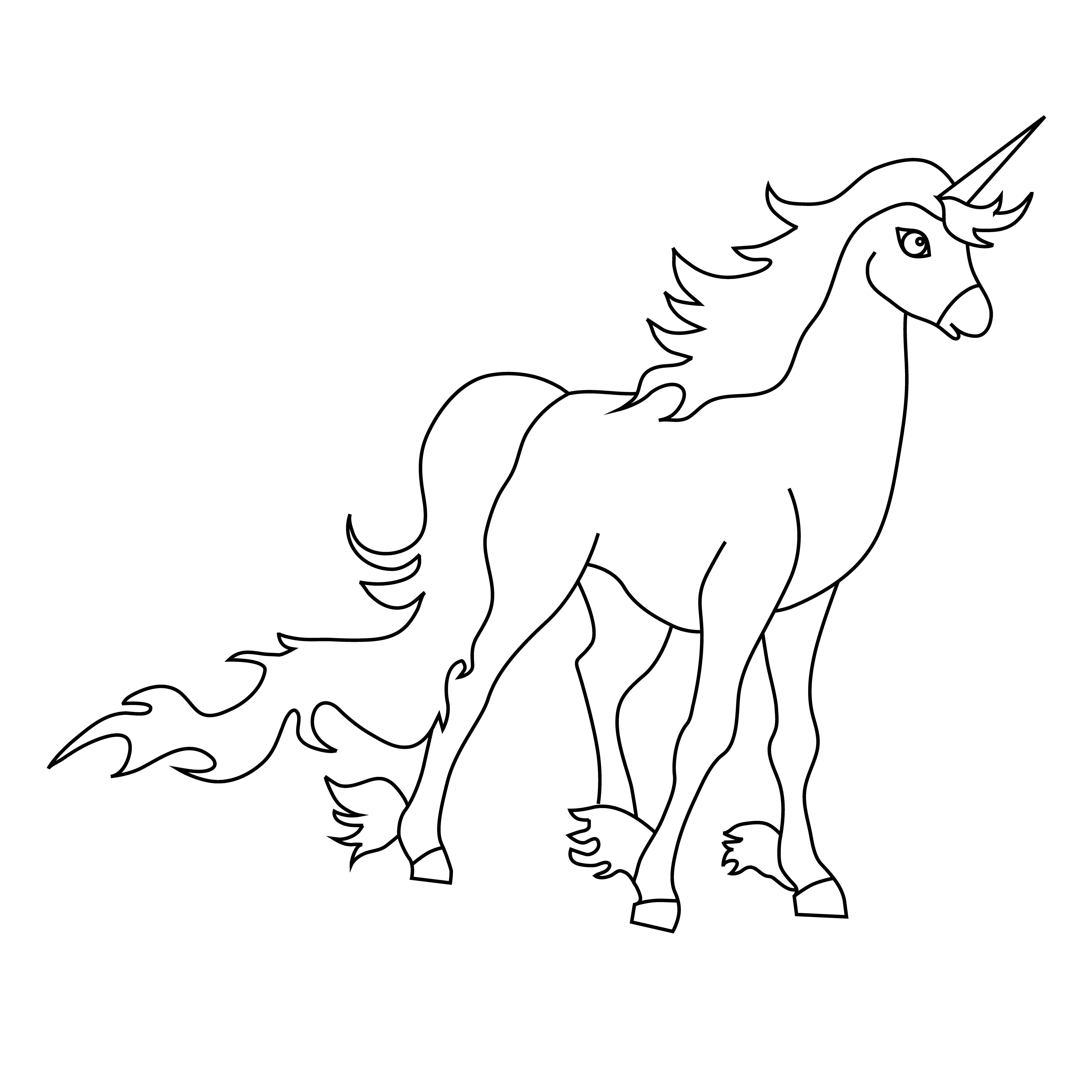 Единорог неоновый и  линейный