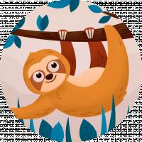 Иллюстрация с шумами Ленивец