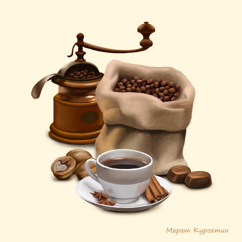 Кофе. (декор для плитки)