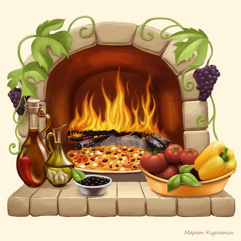 Итальянская пицца. (декор для плитки)
