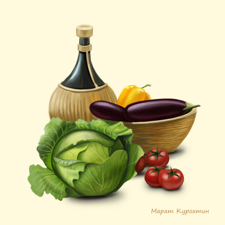 Овощи. (декор для плитки)