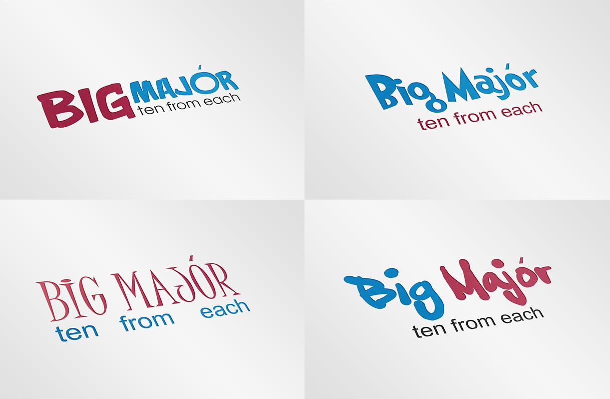 "Разработка логотипа ""Big major"""
