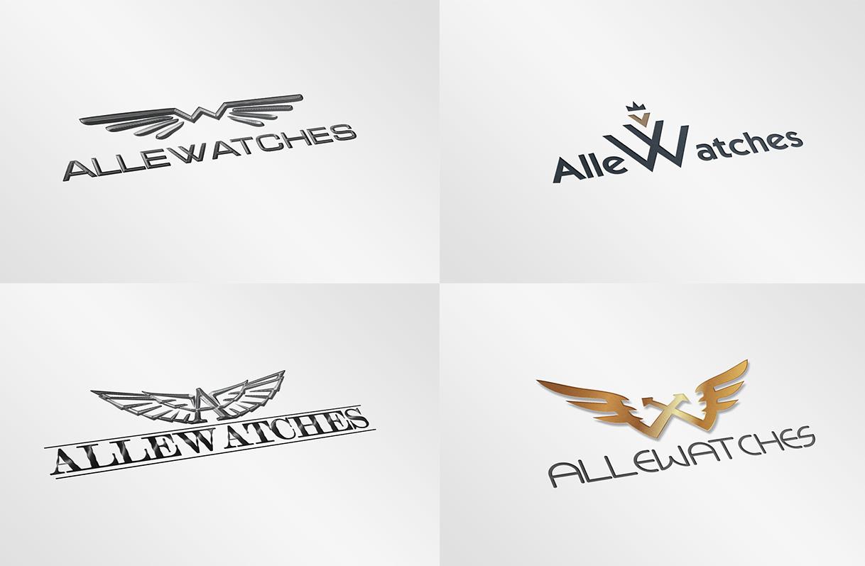 """Разработка логотипа """"Alle watches"""""""