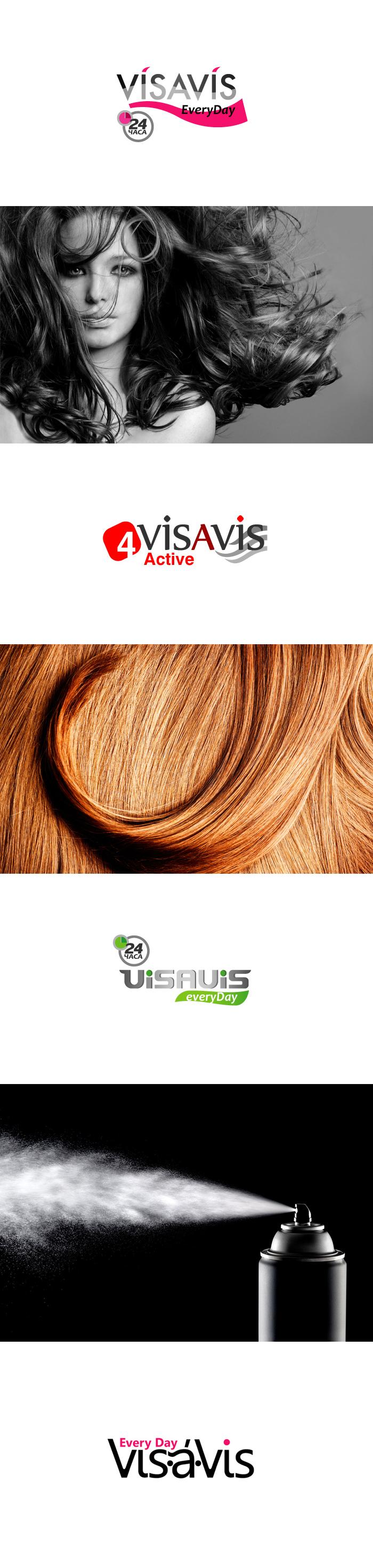 """Варианты логотипа для ТМ """"Vis-a-vis"""" (лаки и пены для волос)"""