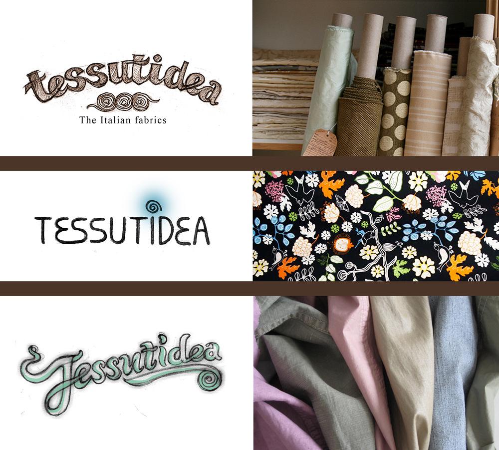 """Эскизы логотипа для интернет-магазина тканей """"Tessutidea"""""""