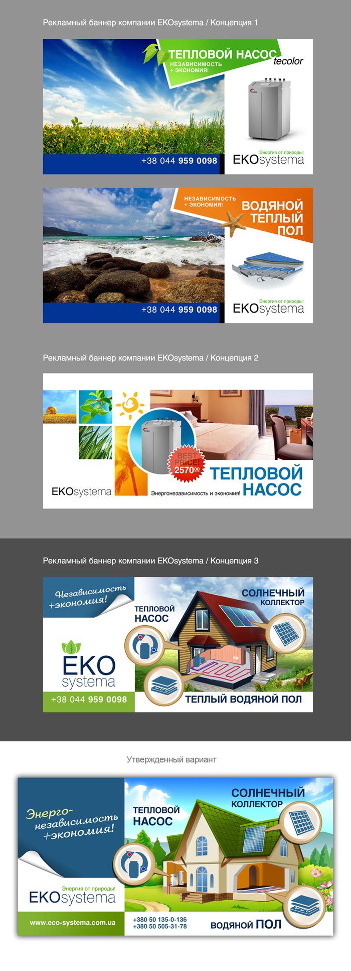 Концепция и дизайн наружной рекламы для компании Ekosystema