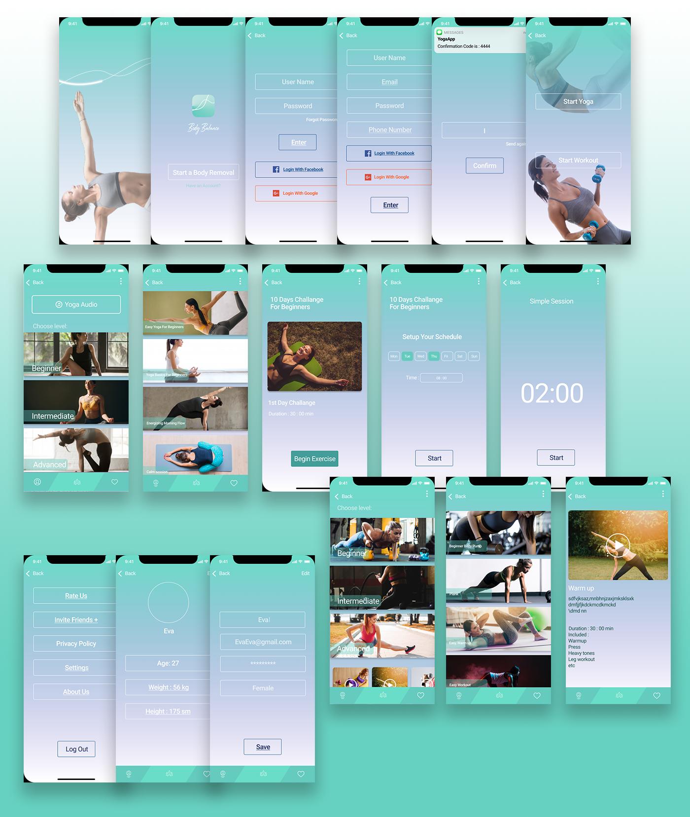 """Мобильное приложение для йоги и спорта """"Body Balance"""""""