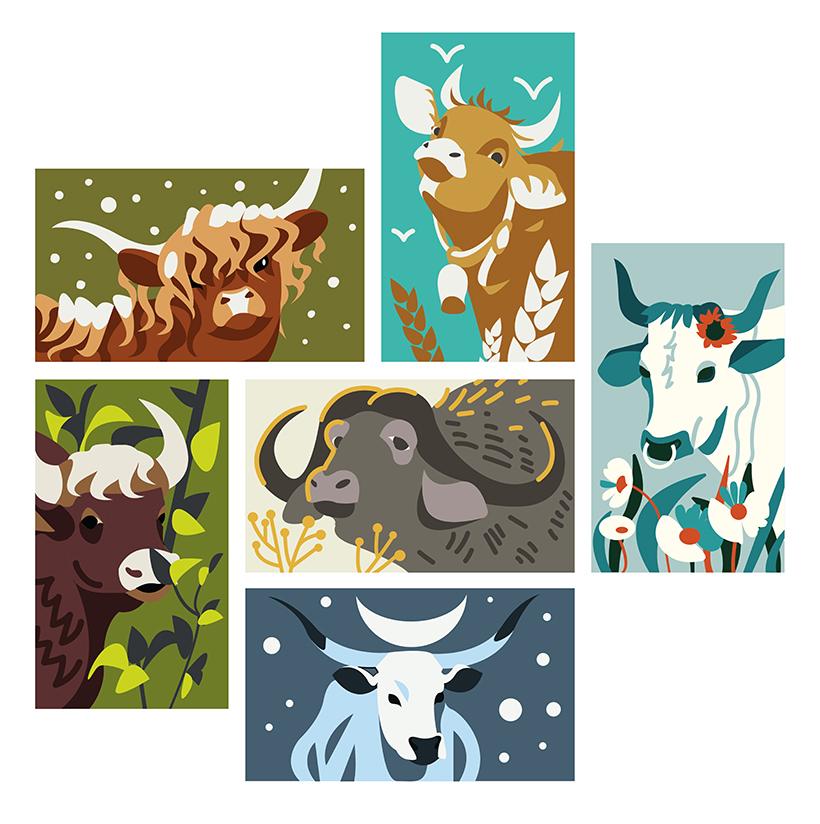 Создать рисунки быков, символа 2021 года, для реализации в м фото f_3845f01874cc1ddc.jpg