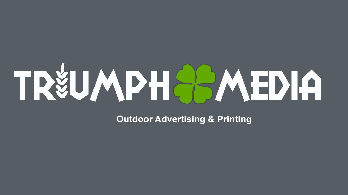 Разработка логотипа  TRIUMPH MEDIA с изображением клевера фото f_50752c9272504.jpg