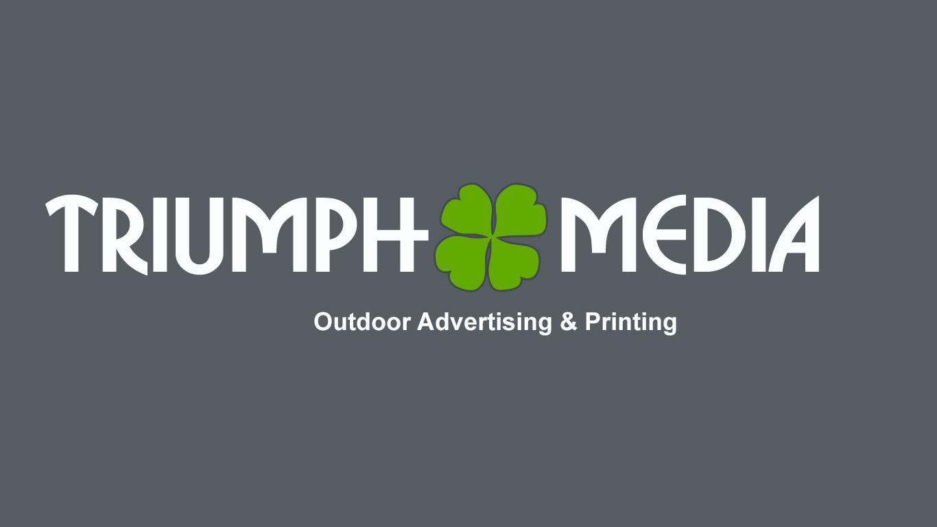 Разработка логотипа  TRIUMPH MEDIA с изображением клевера фото f_50752cbde8d3b.jpg