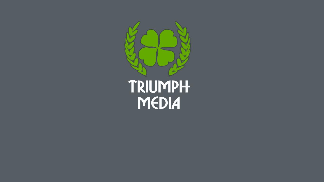 Разработка логотипа  TRIUMPH MEDIA с изображением клевера фото f_50752ccbf0ea9.jpg