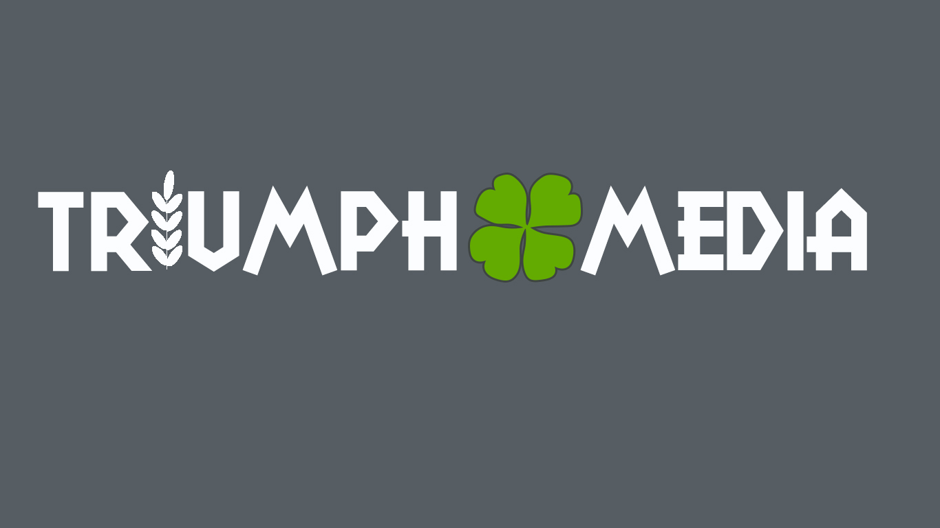 Разработка логотипа  TRIUMPH MEDIA с изображением клевера фото f_50752cd6a5c05.jpg