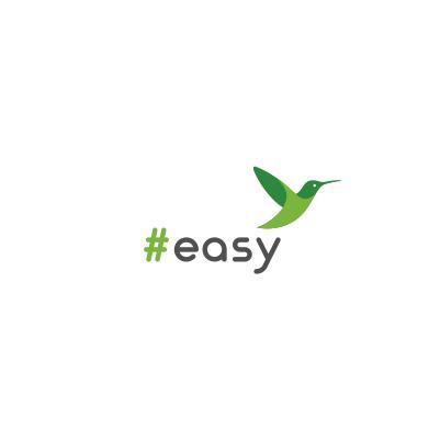 Разработка логотипа в виде хэштега #easy с зеленой колибри  фото f_1575d4f817b20cb1.png