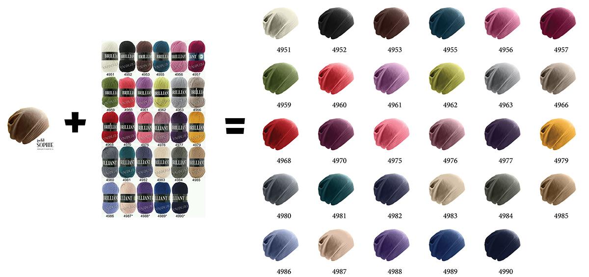 Изменение цвета одежды согласно палитре.