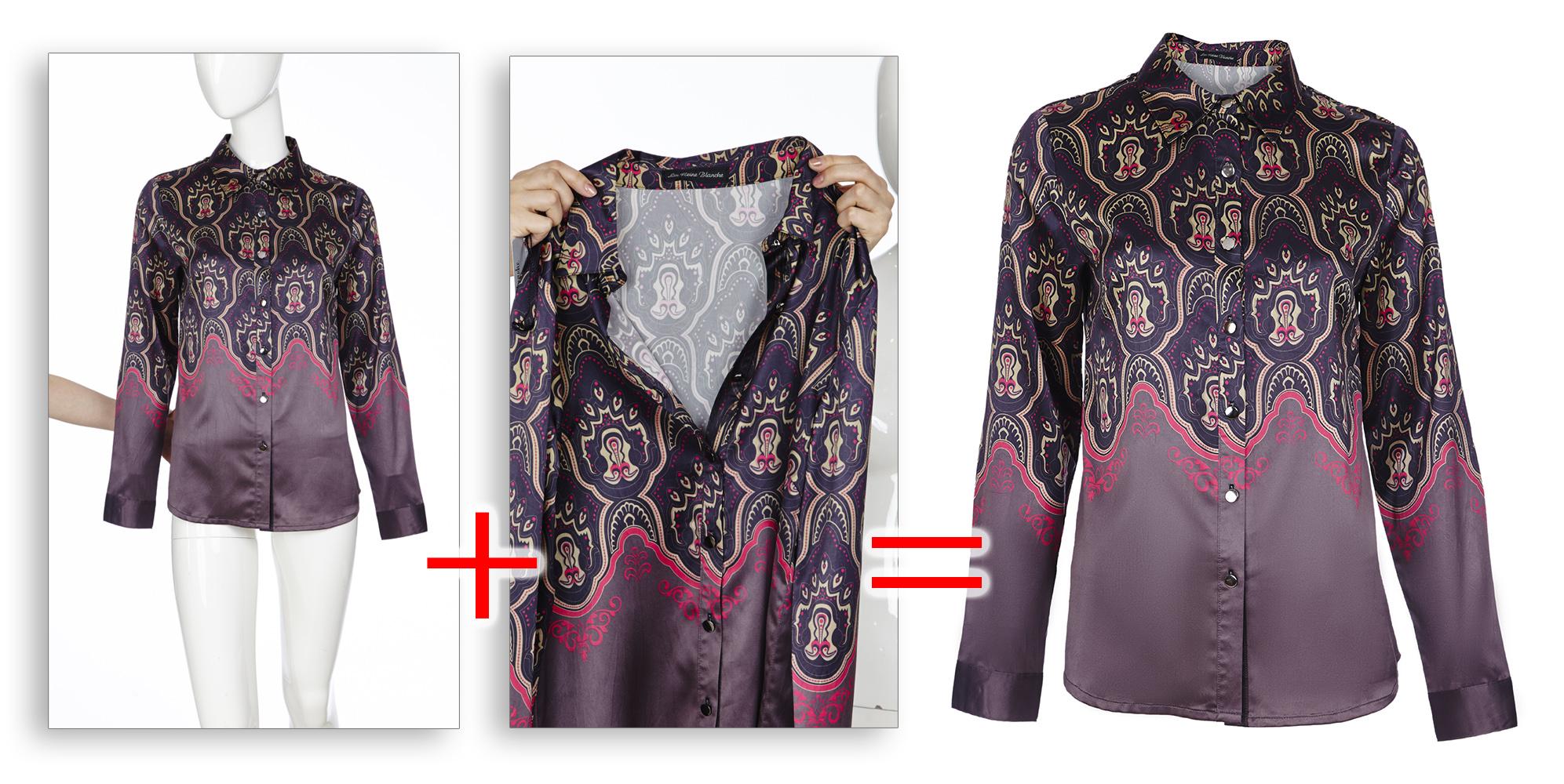 Обтравка одежды с манекена с подстановкой заднего плана
