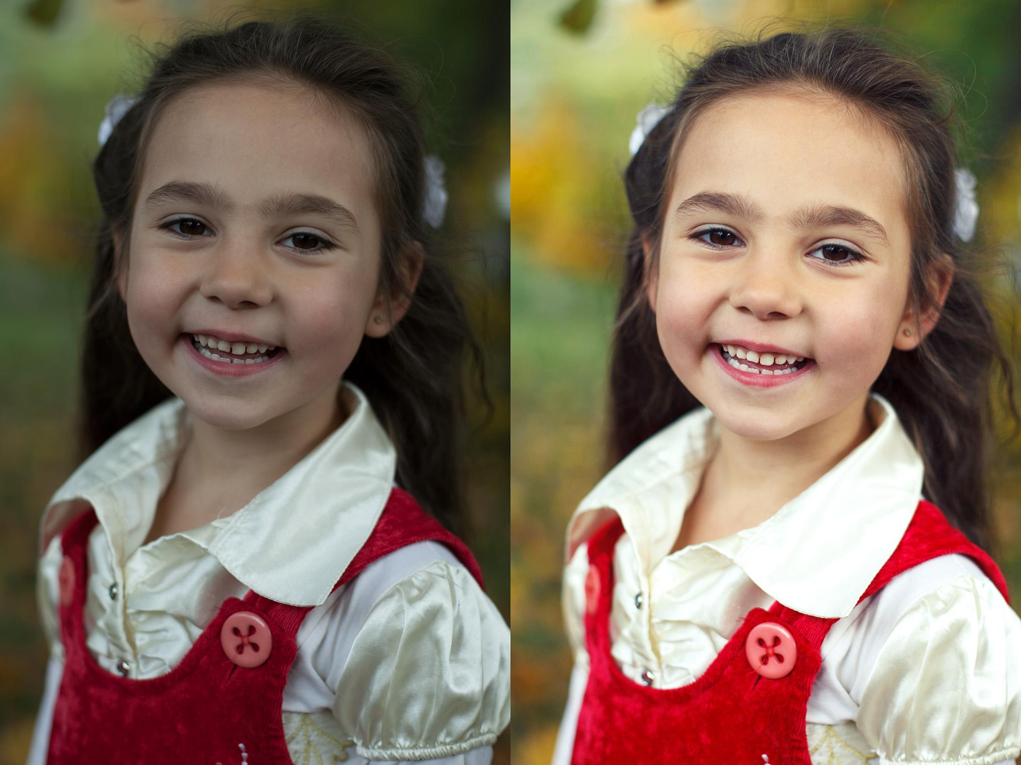 Детский портрет. Фотография, цветокоррекция, ретушь.