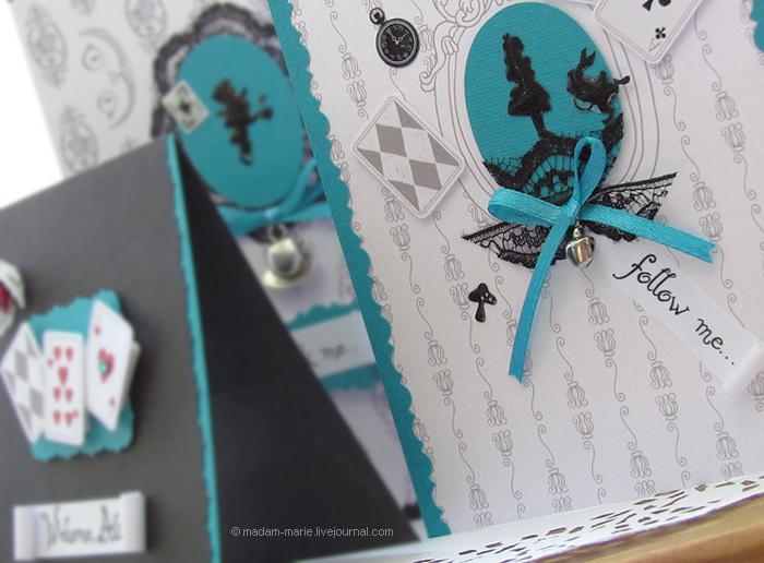 """открытки """"Алиса в стране чудес"""""""