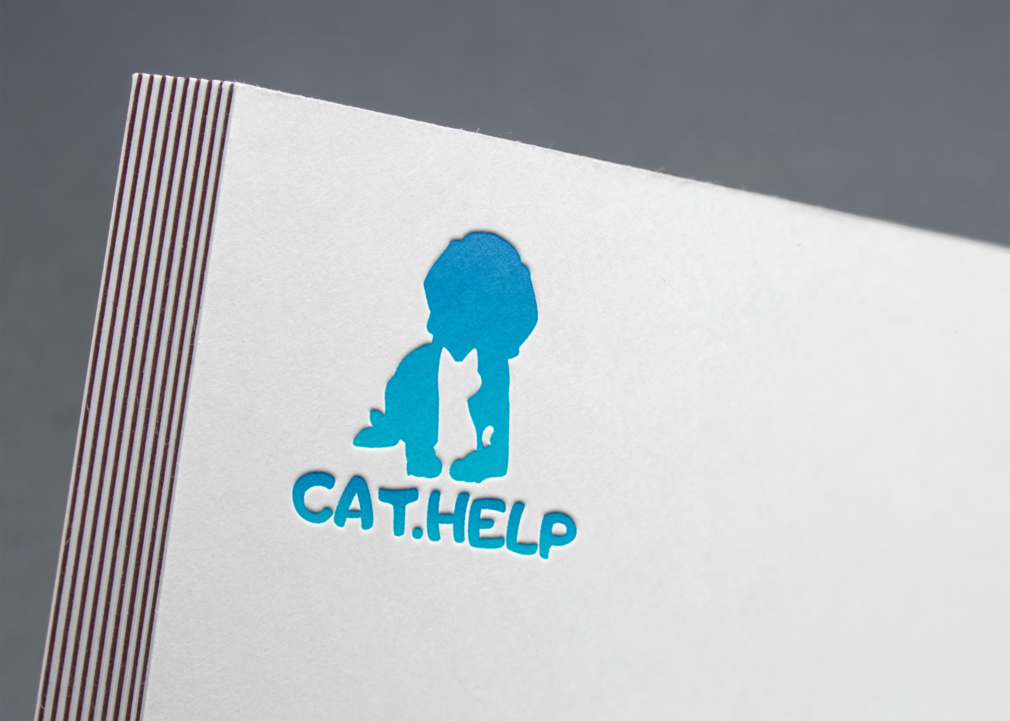 логотип для сайта и группы вк - cat.help фото f_44059da27267ebfd.jpg