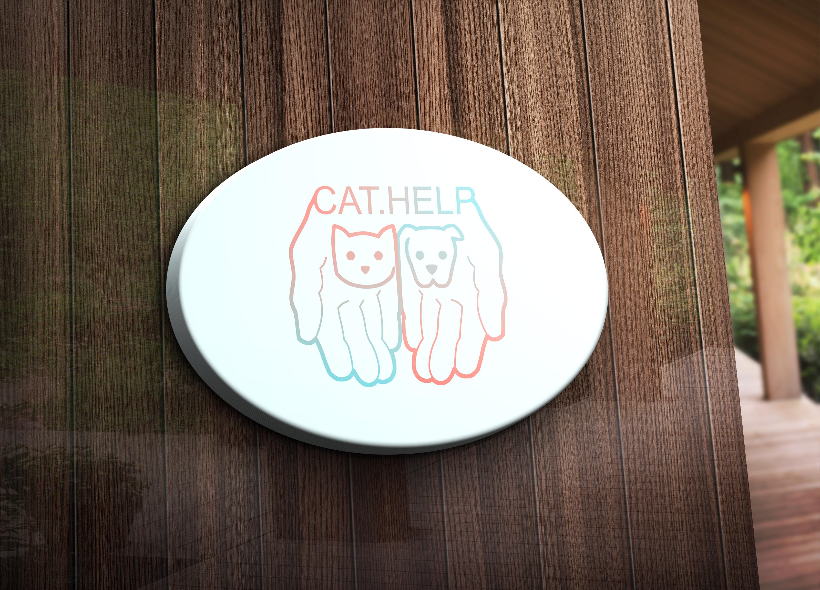 логотип для сайта и группы вк - cat.help фото f_57059da27318b983.jpg