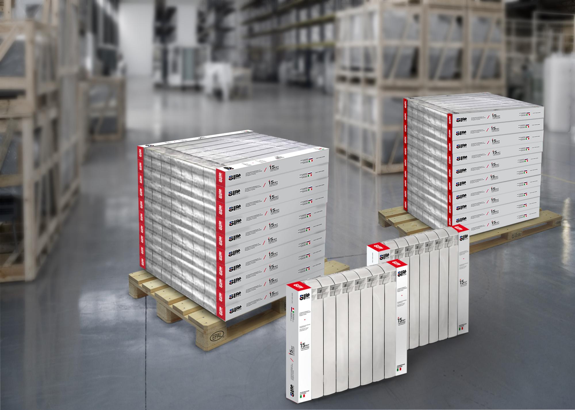 Дизайн упаковки для радиаторов SIRA RUS