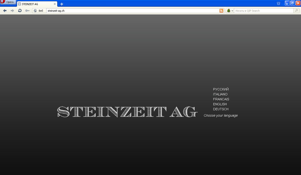Сайт австрийской компании STEINZIT AG