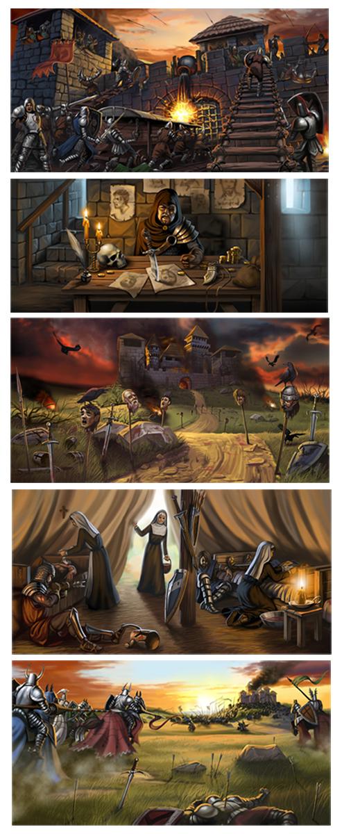 Иллюстрации для онлайн игры