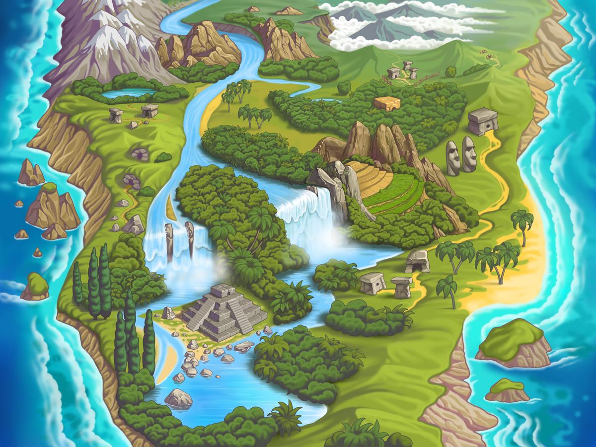 Карта джунгли