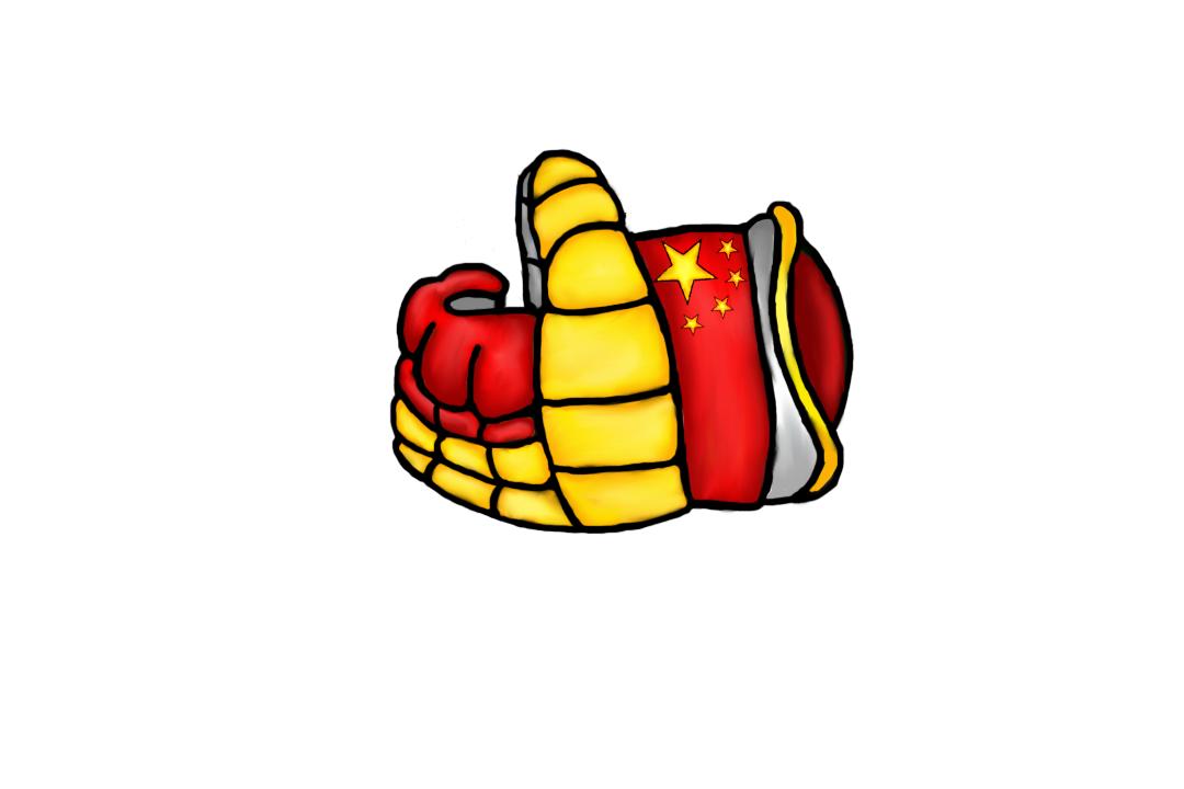 Хоккейная перчатка: Китай.