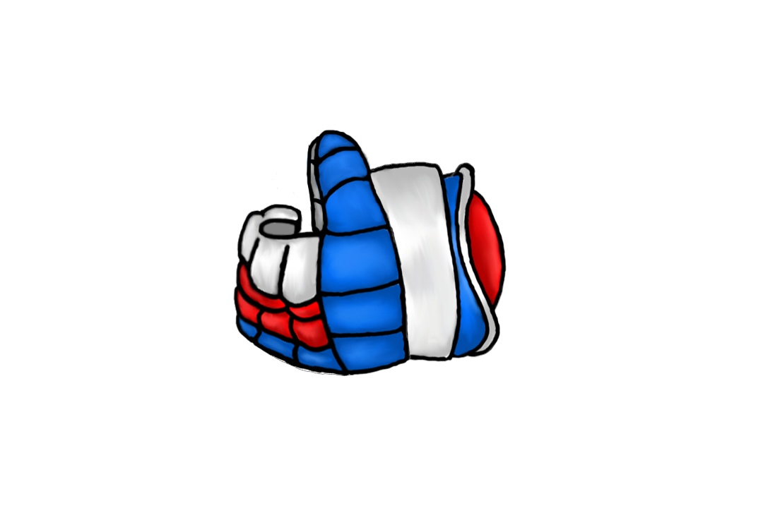 Хоккейная перчатка: Россия.