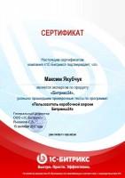 Сертификат Битрикс24 Пользователь