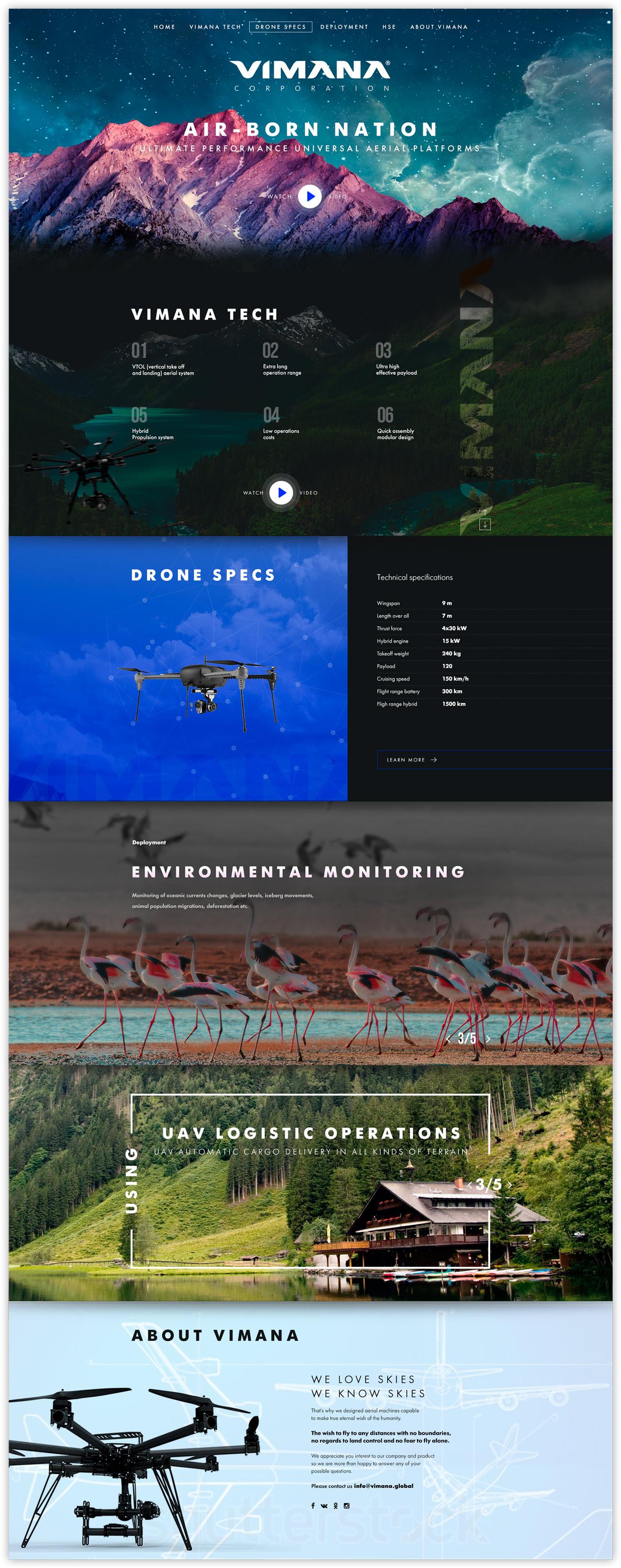 [Лендинг] дроны
