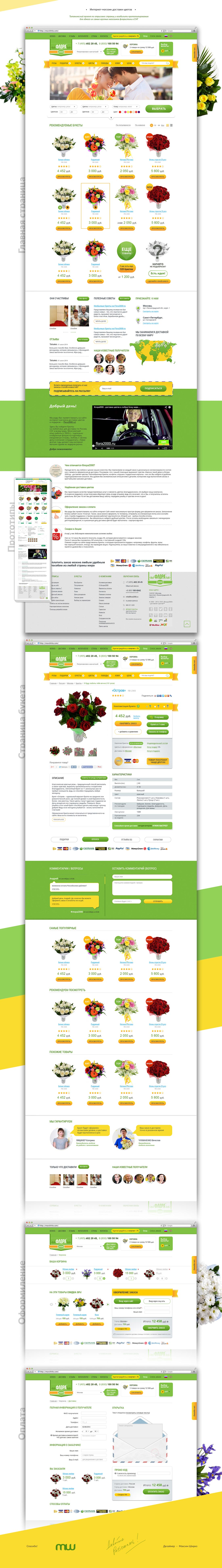 [Интернет-магзаин] Высоко-конверсионный магазин цветов