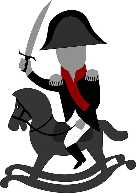 Наполеон на детской лошадке
