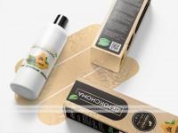Дизайн упаковки (коробки) и этикетки для бальзама Детоксиома