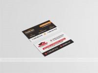 Двусторонняя визитка для многопрофильной компании (шины+грузоперевозки)