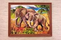 Африканские слоны. Масло