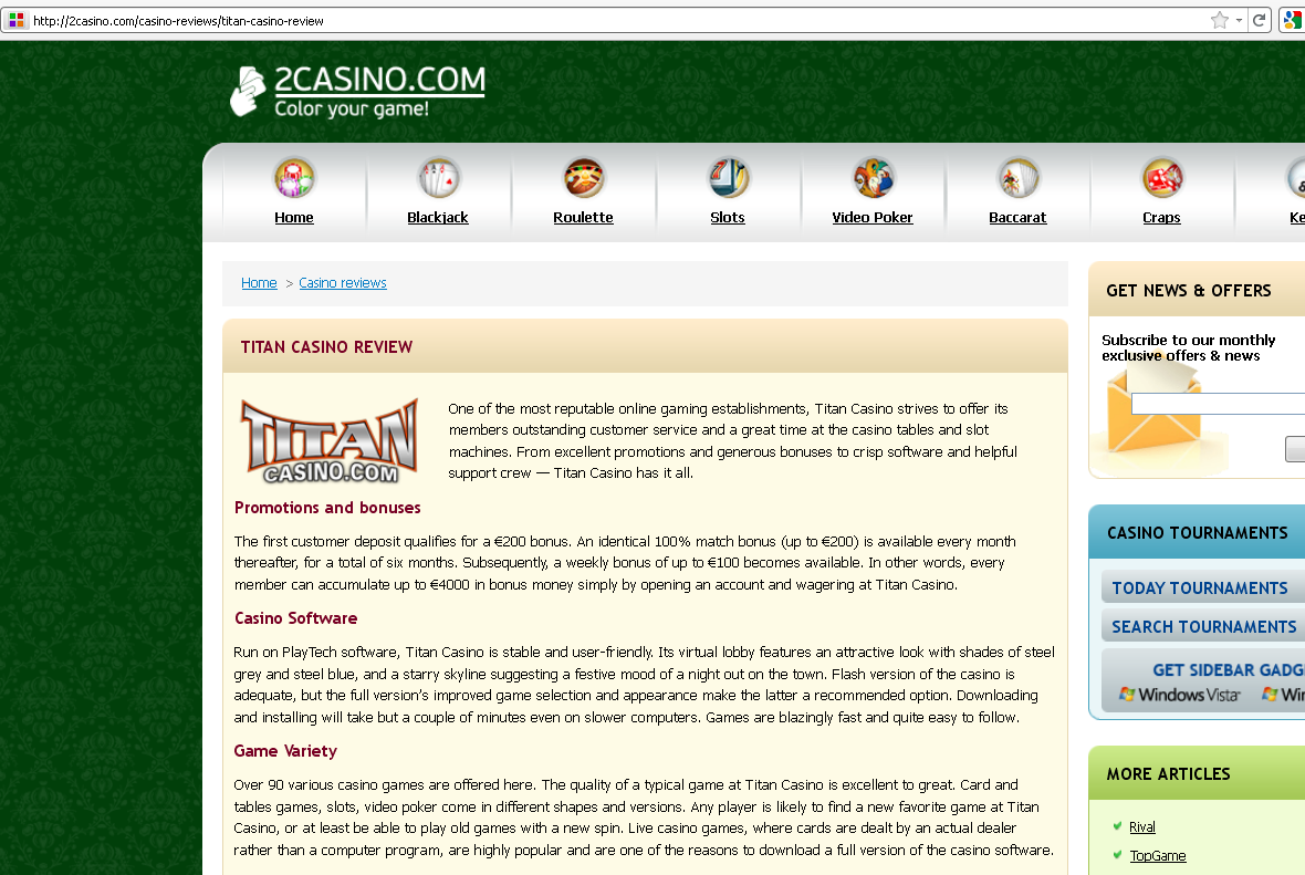 (2011/07/14)-Titan Casino Review