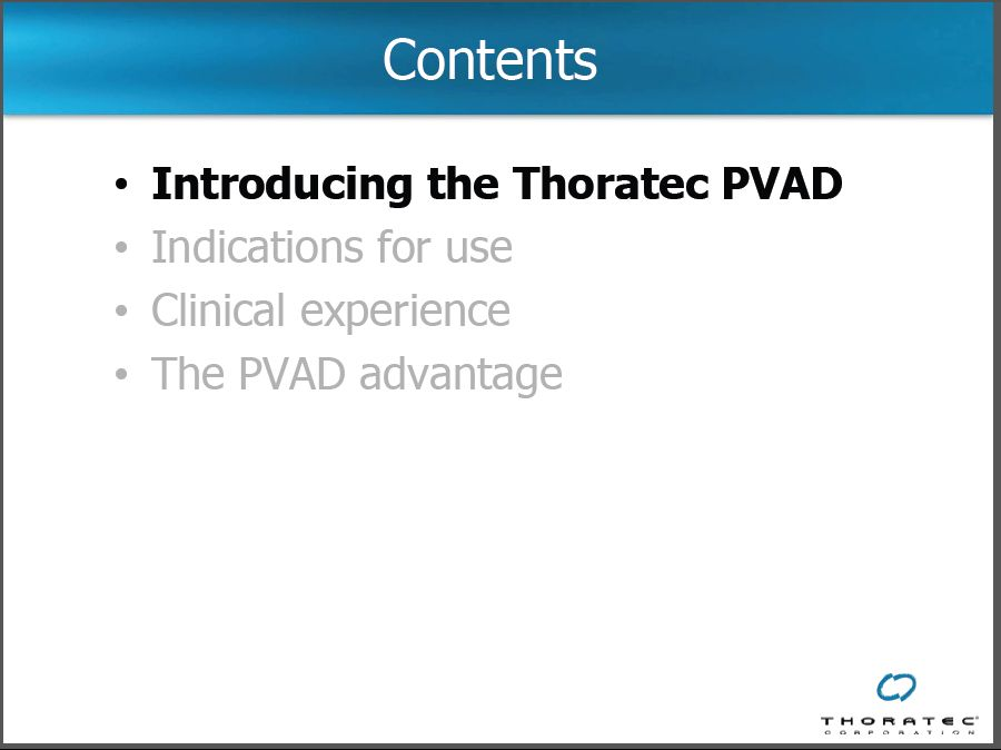 Thoratec Paracorporeal Ventricular Assist Device