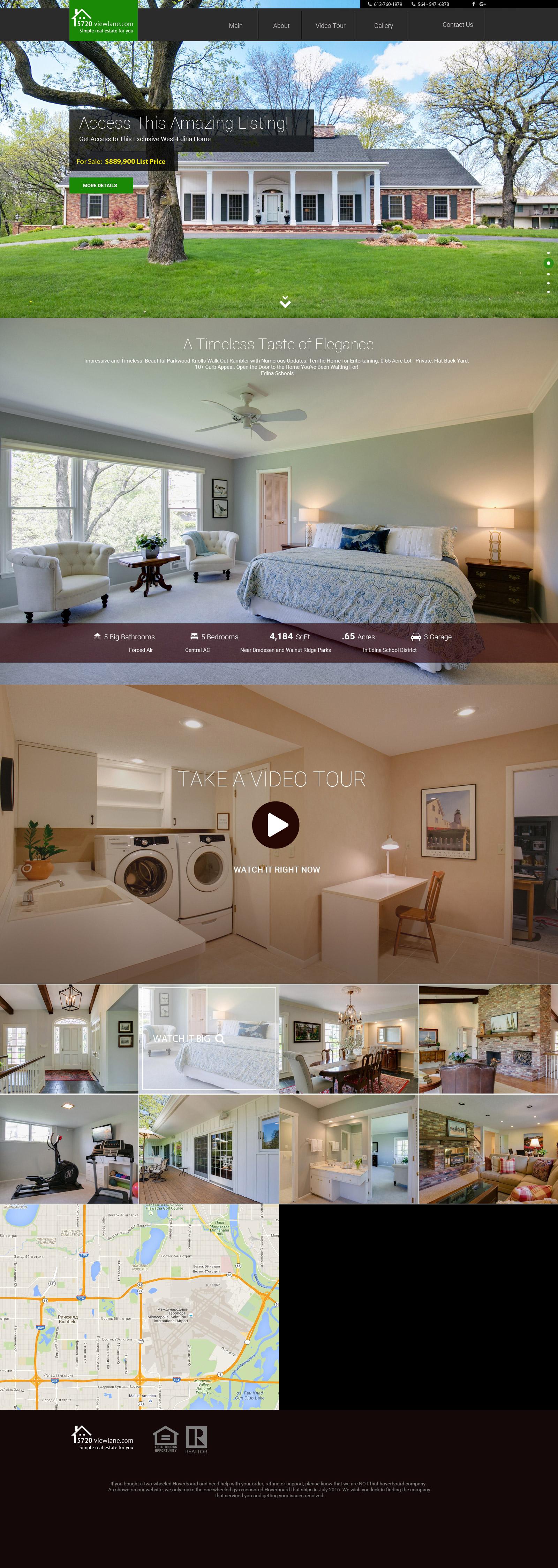 Промо сайт для Агенства Недвижимости