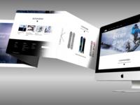 Дизайн макет посадочной страницы сайта, лендинг