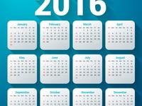 Календарь 2016 года