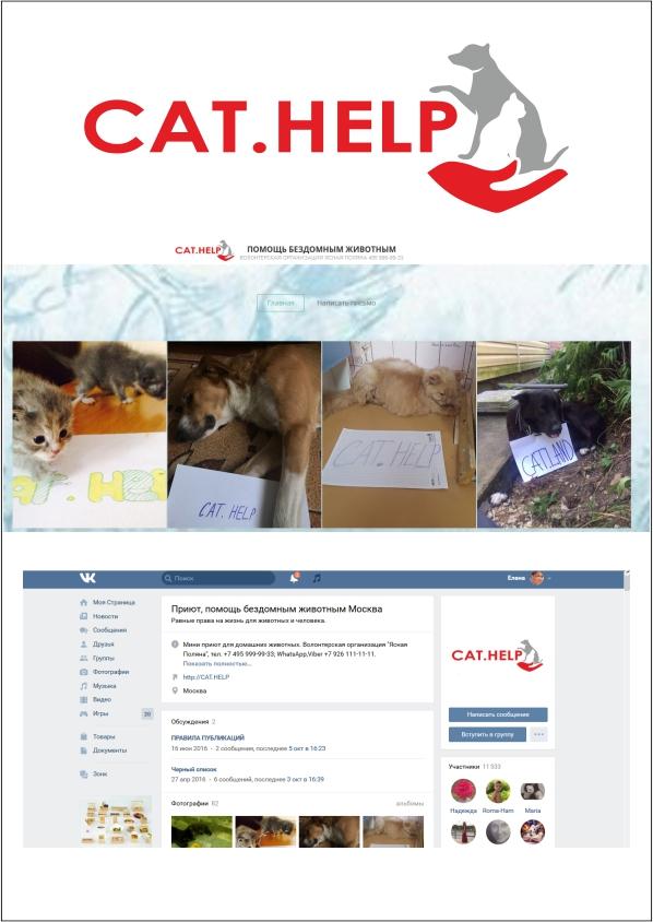 логотип для сайта и группы вк - cat.help фото f_98659e3571840938.jpg