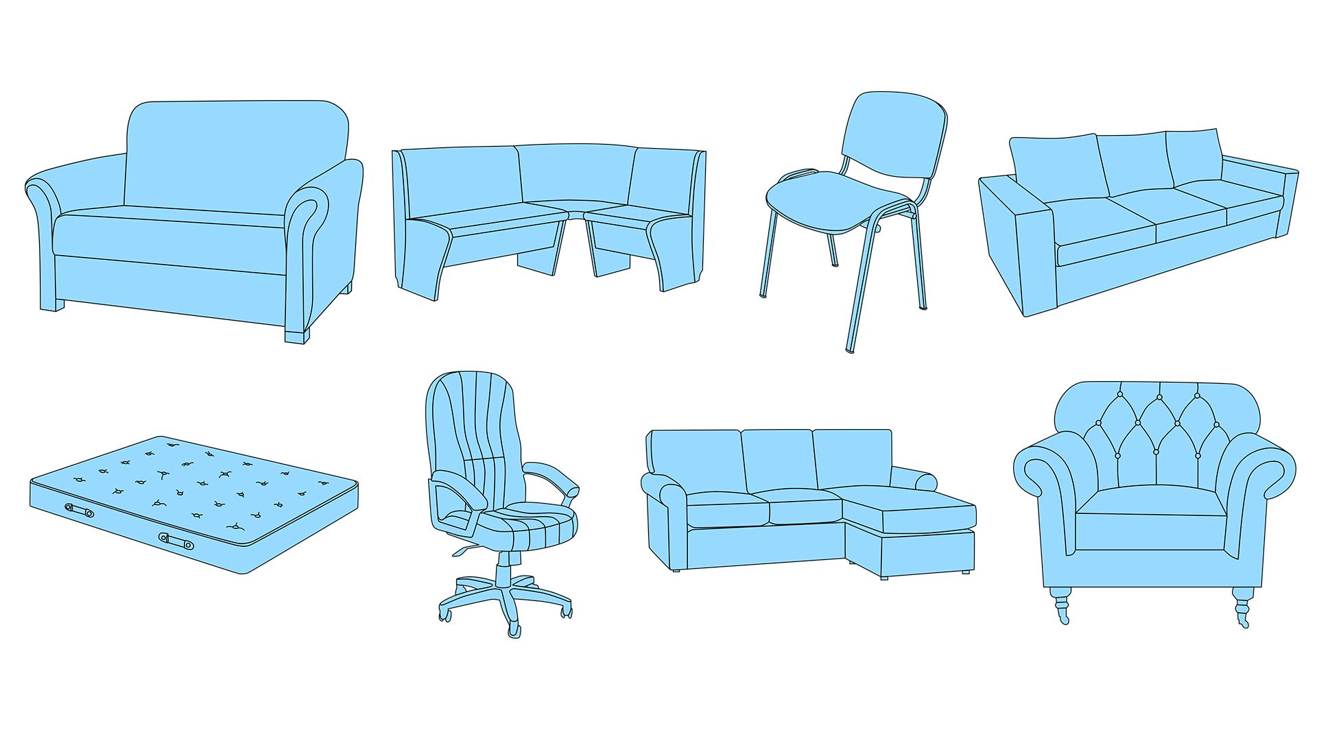 Отрисовка мебели для каталога