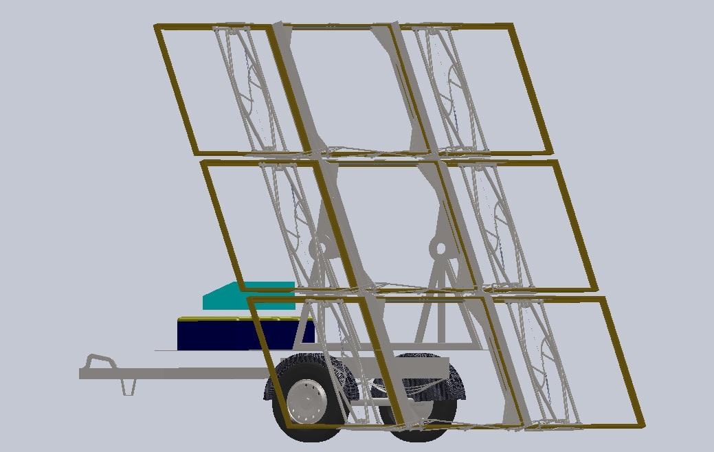 Компоновка мобильной солнечной батареи