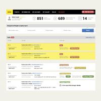 Интерфейс для курьеров в USA (8 страниц в 2-х разрешениях по сеткам Bootstrap)