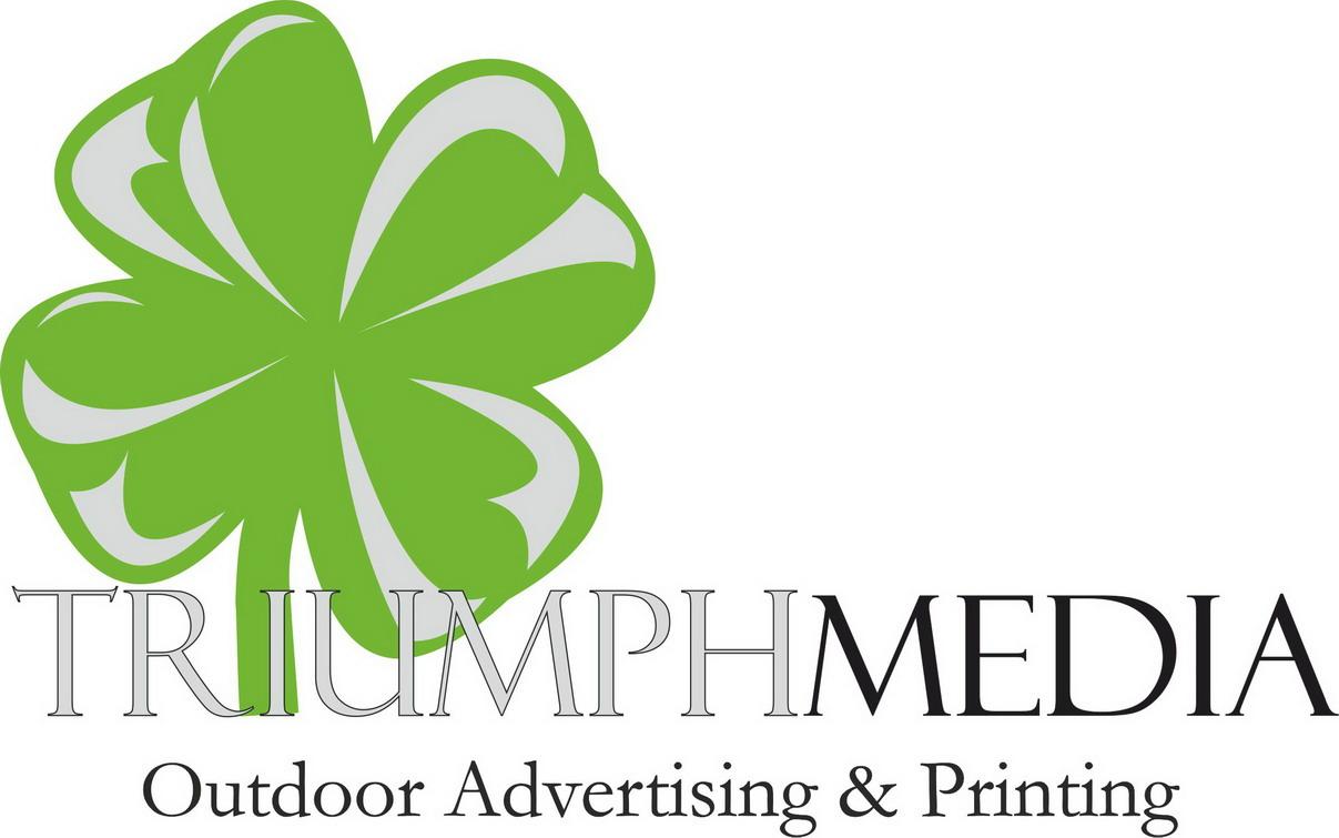 Разработка логотипа  TRIUMPH MEDIA с изображением клевера фото f_506ee839a9bf2.jpg