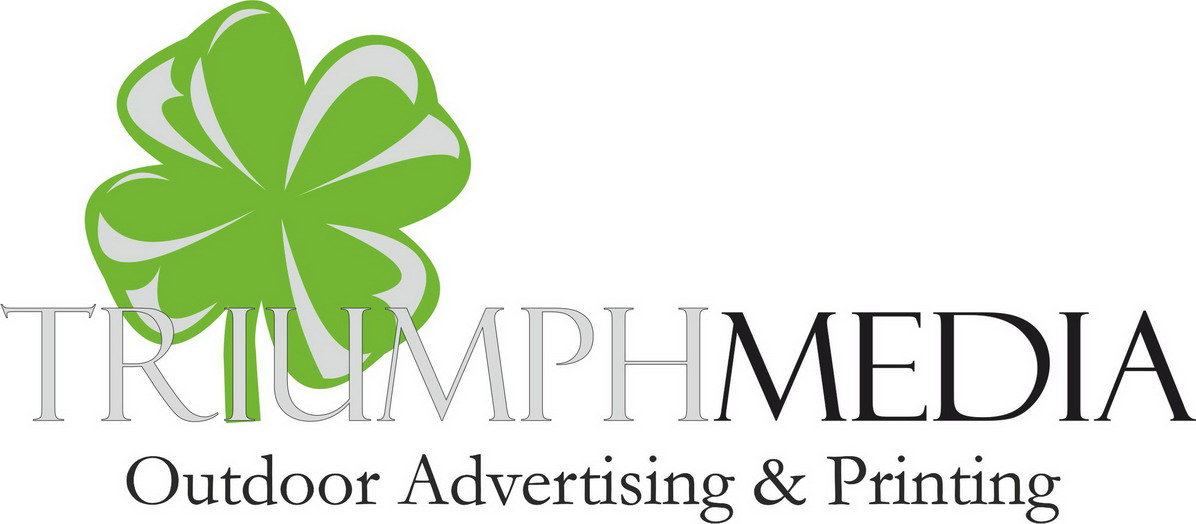 Разработка логотипа  TRIUMPH MEDIA с изображением клевера фото f_506eea0a3de84.jpg